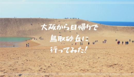 大阪から鳥取砂丘へ日帰りバス旅行!人生はじめて砂丘を見てきた感想