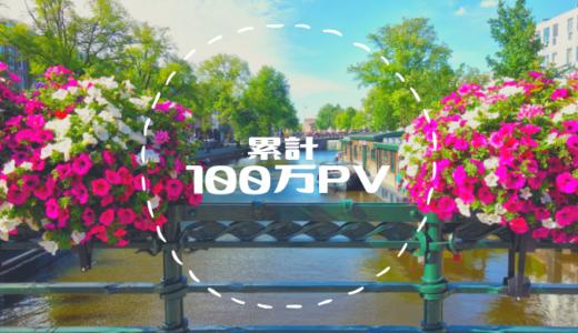 祝*ブログ累計PV100万達成!月5万PVの先を目指すために今後を考える
