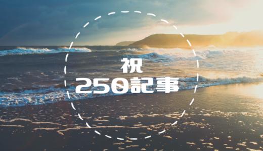ブログ250記事投稿達成*月20万PVまであと少し!【月PVと収益まとめ】