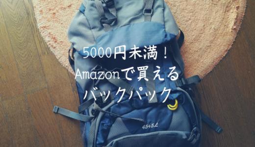 Amazonで5000円未満で購入できる!?「旅行用バックパック」5選