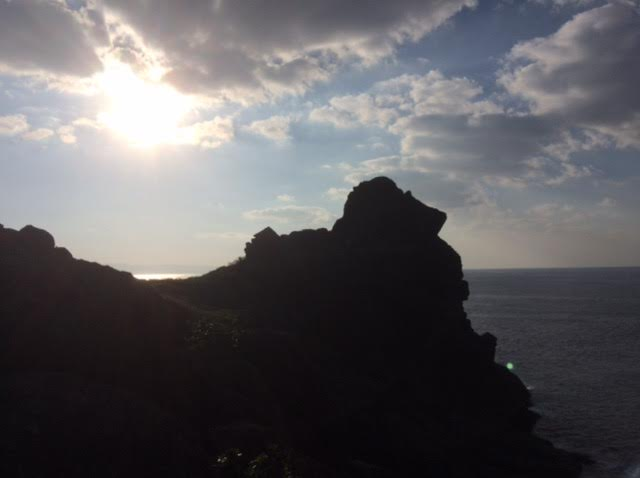 石垣島一周ドライブで訪れた御神崎の写真
