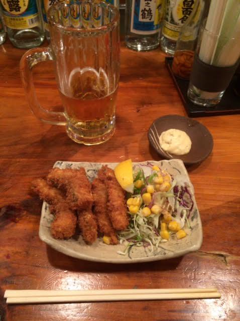 島の居酒屋南風(ぱいかじ)で食べたイラブチャーの一口フライの写真