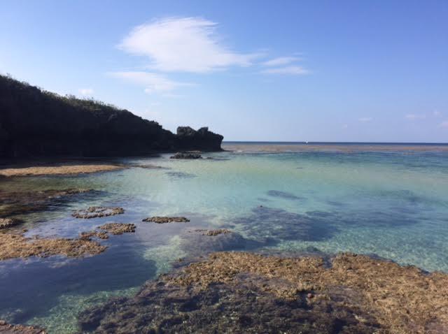 西表島一周ドライブで訪れた星砂の浜の写真