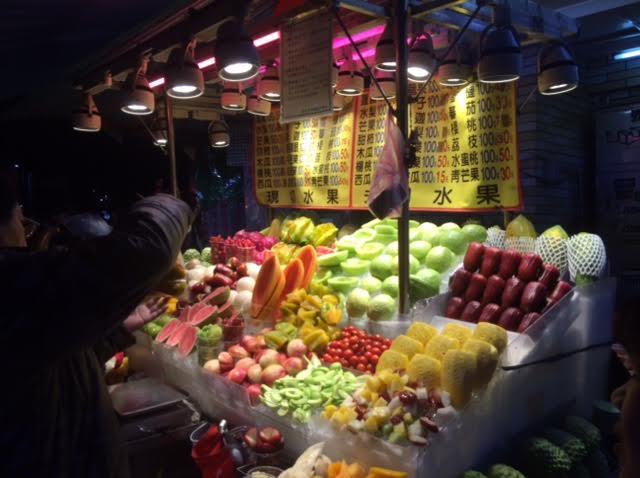 台湾の女一人旅で訪れた市の写真