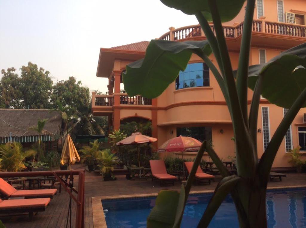 カンボジアひとり旅で泊まったV&Aヴィラの写真