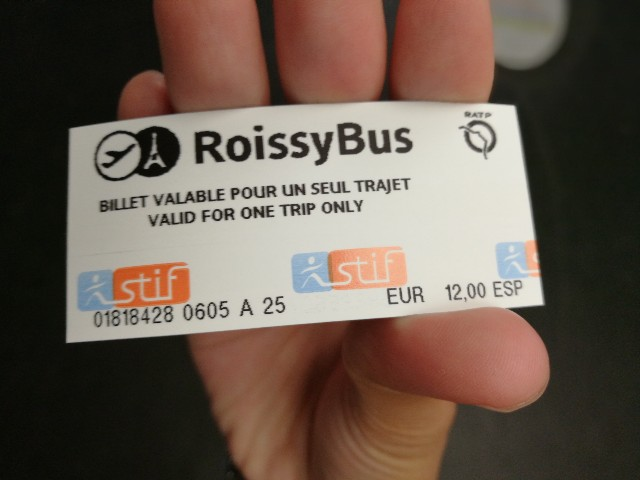 シャルルドゴール空港行きのロワシーチケットの写真