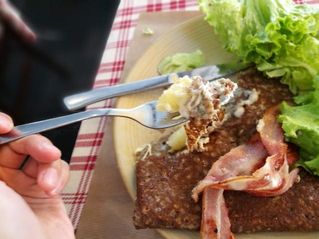 レンヌで食べたクレープの写真