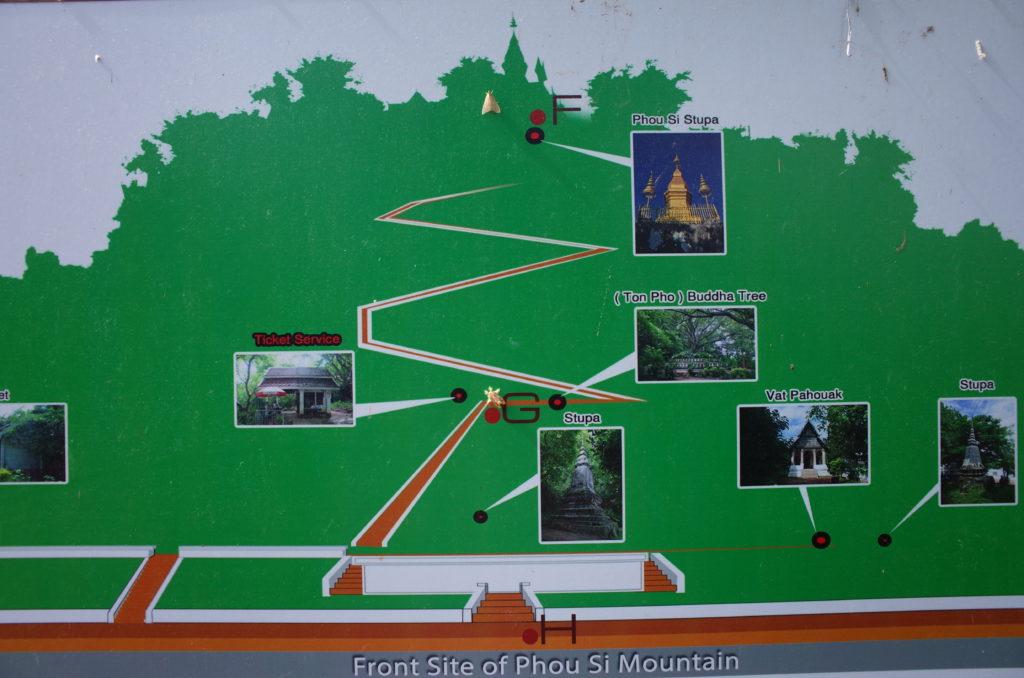 プーシーの丘の地図(表門)