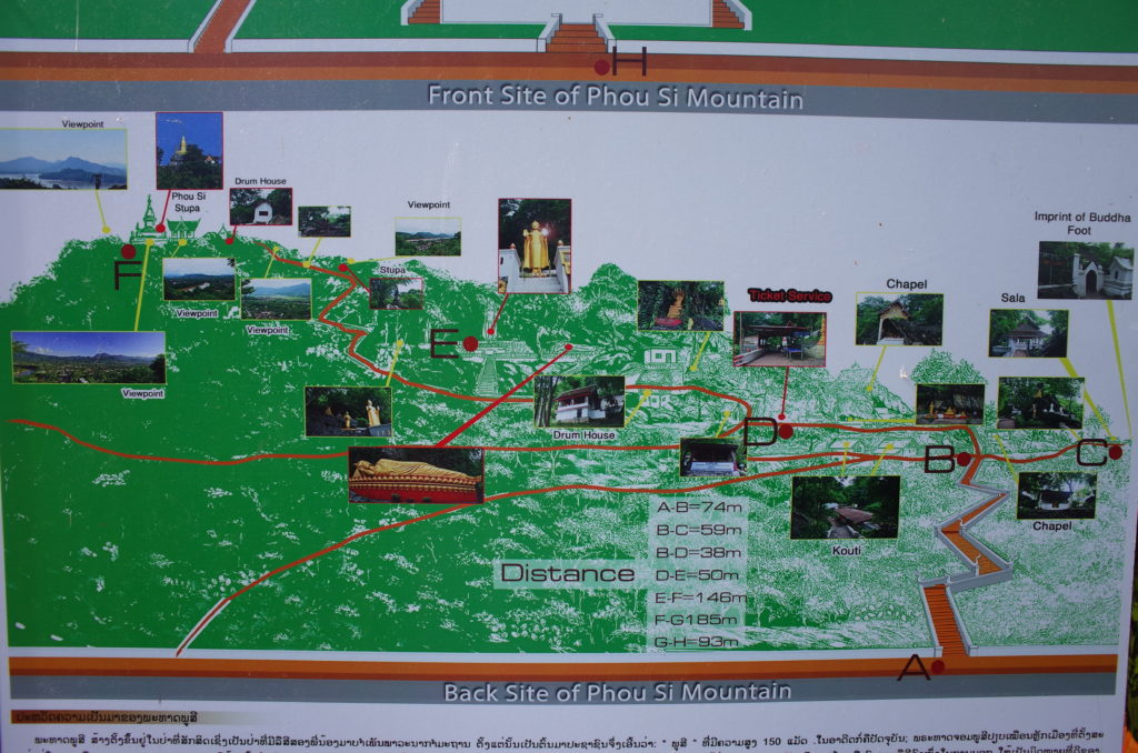 プーシーの丘の裏道(地図)