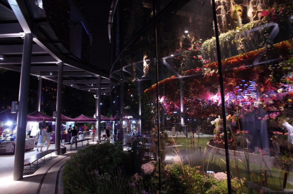 シンガポールの一人旅で撮影した夜景の写真