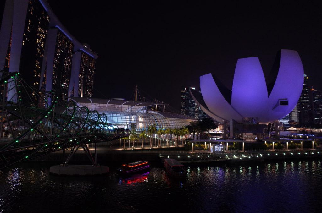シンガポール一人旅で見たサイエンスアートの建物の写真